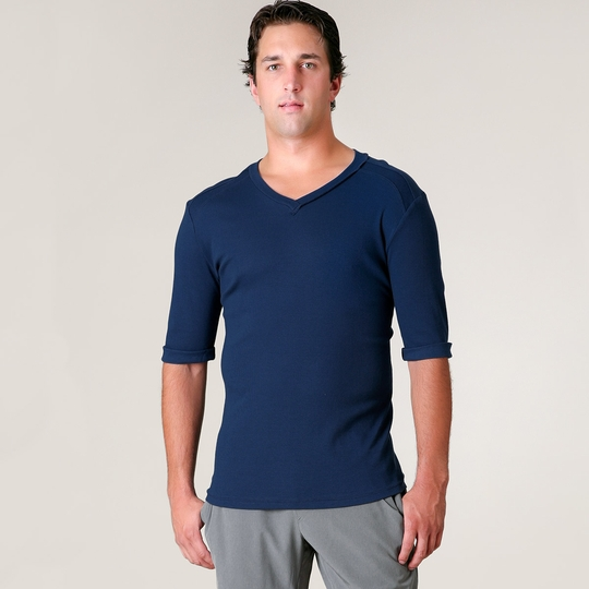 4-rth Hybrid V-neck Tee ( Royal Blue )