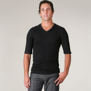 4-rth Hybrid V-neck Tee in Black