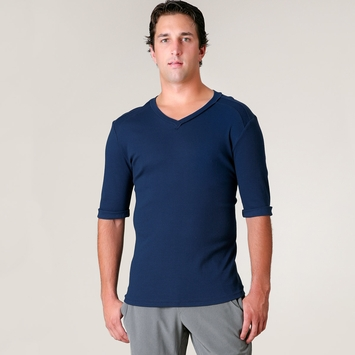 4-rth Hybrid V-neck Tee in Royal Blue
