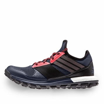 Adidas Response Trail Boost W Shoe in Grey/Black/Red