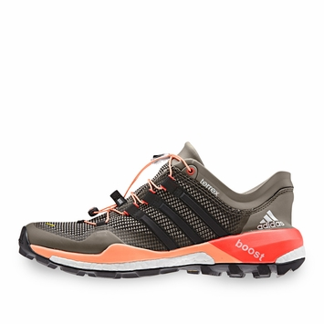 Adidas Terrex Boost W Shoe in Clay/Black/Flash Orange