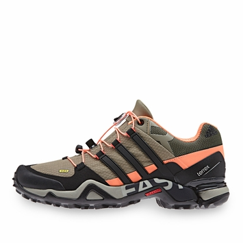 Adidas Terrex Fast R W Shoe in Clay/Black/Flash Orange