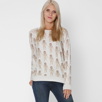 All Things Fabulous Raglan Cozy Sweatshirt in Astroleo/Stone