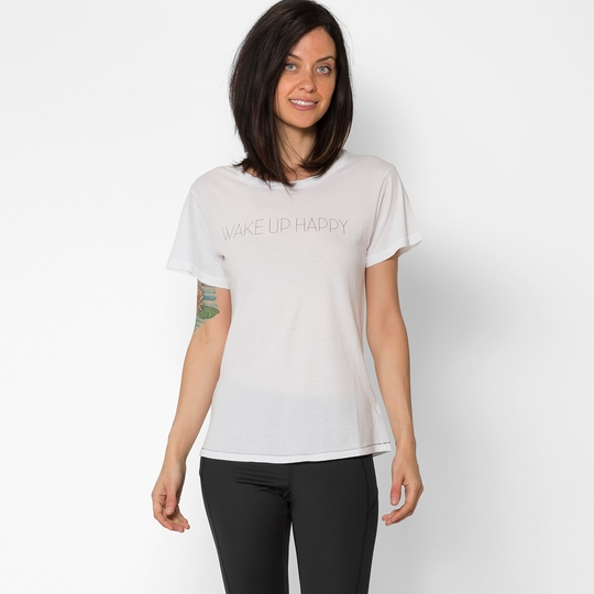 All Things Fabulous Wake Up Happy Tee ( White )