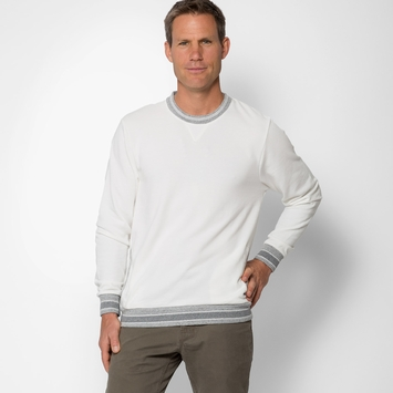 Alternative Apparel French Terry Crew Neck in Vanilla Ice