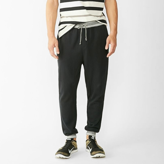 Alternative Apparel French Terry Slouch Pant ( True Black )