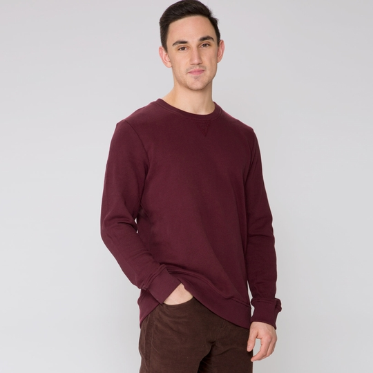Alternative Apparel French Terry Crew Neck ( Black Cherry )