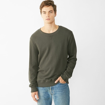 Organic Alternative Apparel French Terry Crew Neck in Raven