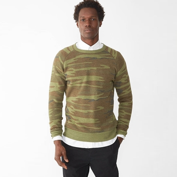 Alternative Apparel Champ Sweatshirt in Camo Print