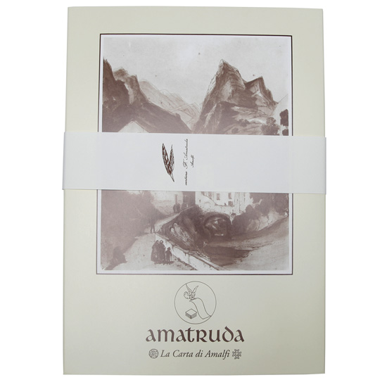 amalfi watermarked stationery set 20 ct 8 5 x 12 eco paper at