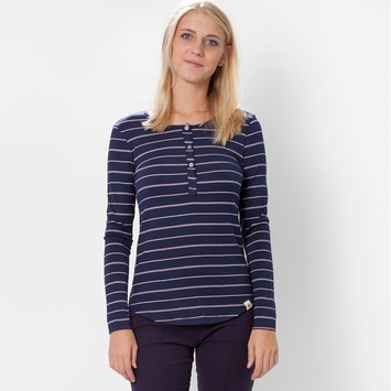 Amour Vert Ava Striped Shirt in Pink Stripe/Navy