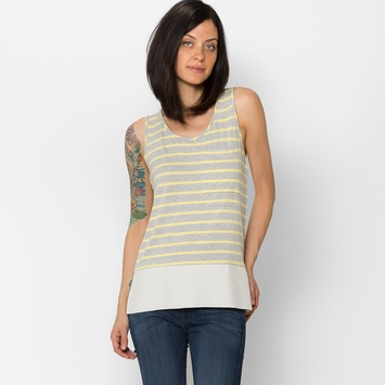 Amour Vert Candela Tank Top in Yellow Stripe