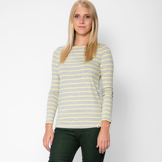Amour Vert Francoise Long Sleeve Top ( Yellow Stripe )