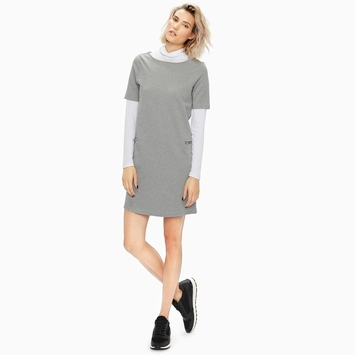 Organic Amour Vert Hallie Dress in Heather Gray