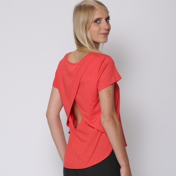 Amour Vert Open Cross Back Top in Poppy
