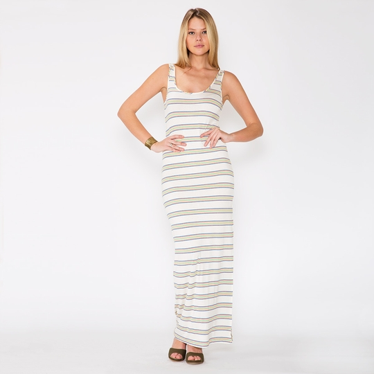 Amour Vert Rainbow Stripe Dress ( Rainbow Stripe )