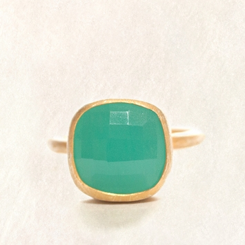 Avindy Chalcedony Cushion Cut Ring