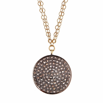 Avindy Pave Diamond Circle Necklace