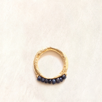 Avindy Sapphire Abacus Ring in 7