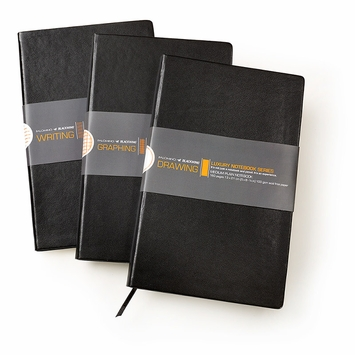 Blackwing Luxury Medium Soft Cover Notebook (5 x 8.25) in Black