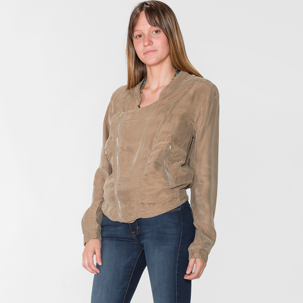 delicate colors the sale of shoes store BlankNYC Faux Silk Bomber Jacket Womens Apparel at Vickerey