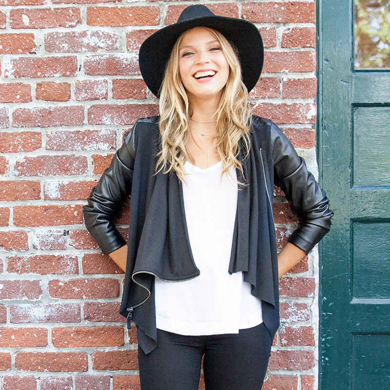 Blanknyc Draped Faux Leather Jacket Womens Apparel At Vickerey