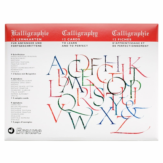Brause Introduction to Calligraphy Lettering Cards