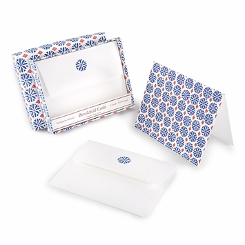 Brookfield Folded Boxed Note Cards Blue Daisy