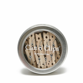 Cavallini Mini Wooden Clips (Can o' Clips)