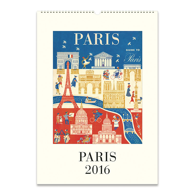 Cavallini Papers 2016 Wall Calendar Paris 13 X 19 Eco