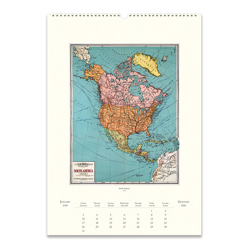 Cavallini papers 2016 wall calendar vintage maps 13 x 19 eco cavallini papers 2016 wall calendar vintage maps 13 x 19 gumiabroncs Choice Image