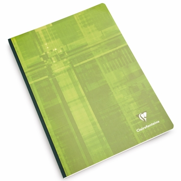 Clairefontaine A4 Cloth Bound Notebook (8.25 x 11.75) in Ruled W/Margin (lined pages) [69145]