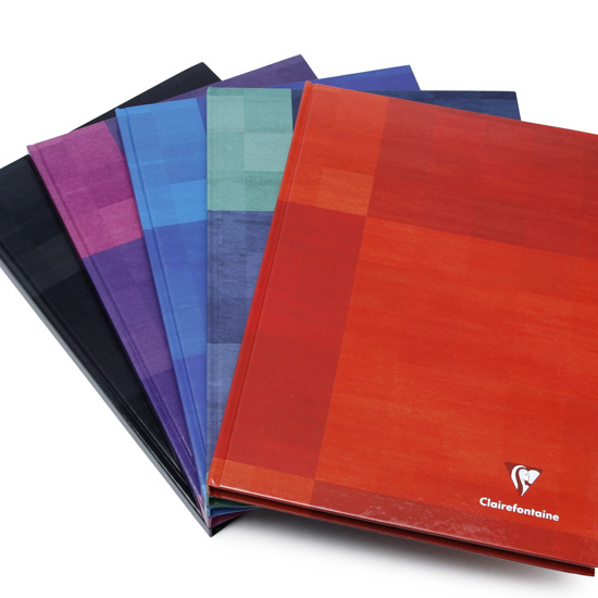 Hardback Book Paper Cover ~ Clairefontaine a ruled hard cover notebook