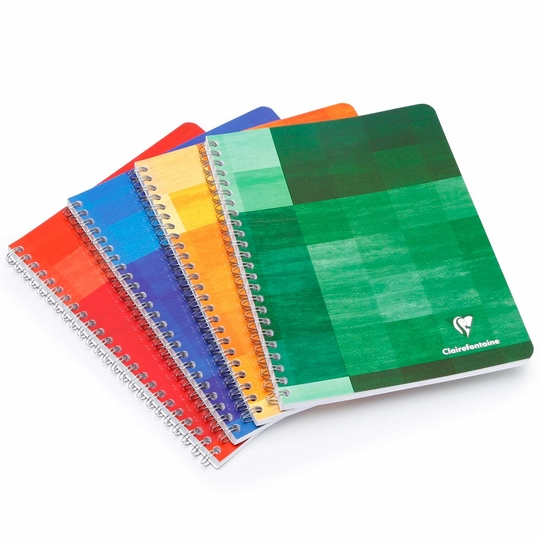 Clairefontaine A4 Spiral Bound Notebook (8.25 x 11.75) ( Ruled W/Margin (lined pages) [68145] )