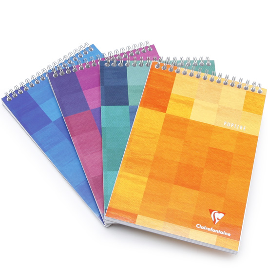 clairefontaine classic a4 top spiral bound notepad  8 5 x