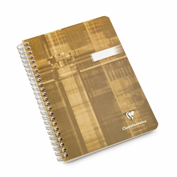 Clairefontaine Classic Side Spiral Bound Notebook With Pockets (6 x 8.25) in Ruled (lined pages) [8566]
