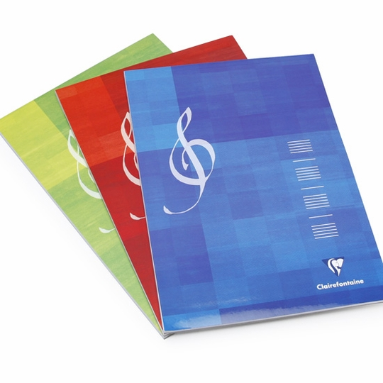 Clairefontaine Music A4 Top Perfect Bound Notepad (8.25 x 11.75) ( Music Staff [6157] )