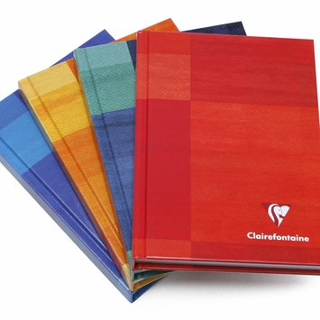 Clairefontaine Pocket Ruled Hard Cover Notebook (4.25 x 5.75) in Ruled W/Margin (lined pages) [69496]