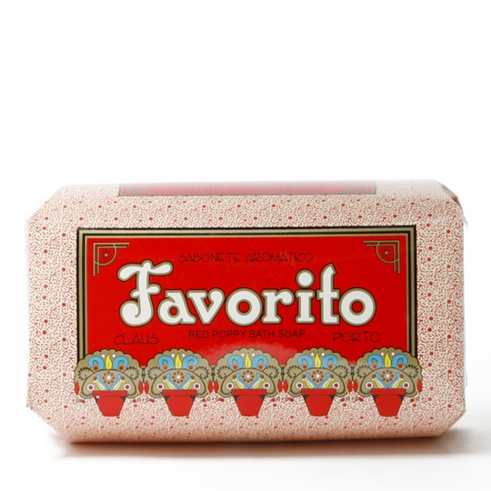 Claus Porto Large Bar Soap (350 gram) ( Favorito (Red Poppy) )