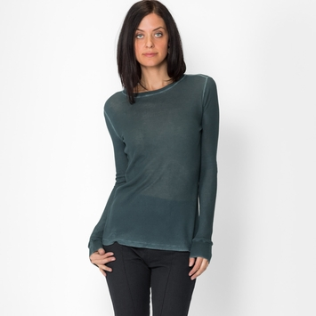 Cotton Citizen Long Sleeved Thermal Shirt in Dark Pine