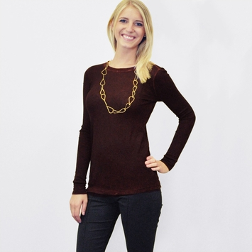 Cotton Citizen Long Sleeved Thermal Shirt in Maroon
