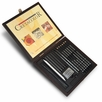 Cretacolor Black Wood Box Charcoal & Drawing Set (Set of 20)