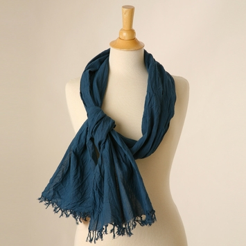 Crinkle Scarf in Sky Blue