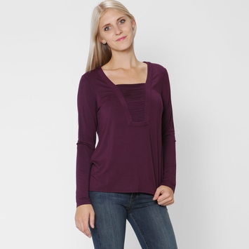 Ella Moss Bella Long Sleeve Top in Fig