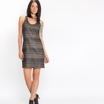 Emerson Fry Jacquard Layering Dress in Grey
