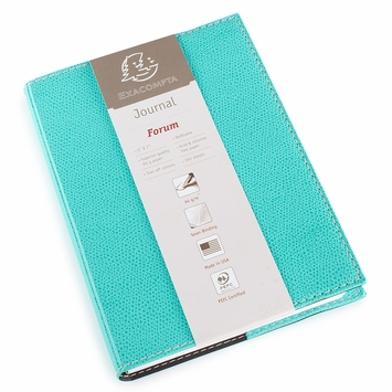 Exacompta Club Leatherette Forum Journal (5 x 7) in Turquoise