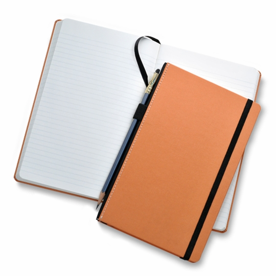 Fabio Ricci Goran Medium Hard Cover Notebook (5 x 8.25 in.) ( Orange )