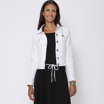 SALE / Fidelity Jeans Adanac Jean Jacket in Anarchy White