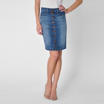 Fidelity Denim Collette Skirt in Dark Vintage