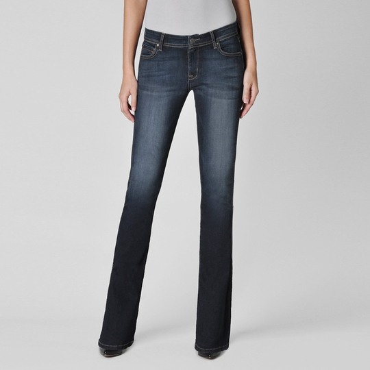 Fidelity Denim Mid Rise Slim Boot Cut Jean ( Lumina Dark Denim )